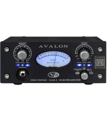AVALON DESIGN V5 BLACK MIC PREAMP/DI/REAMPING BOX