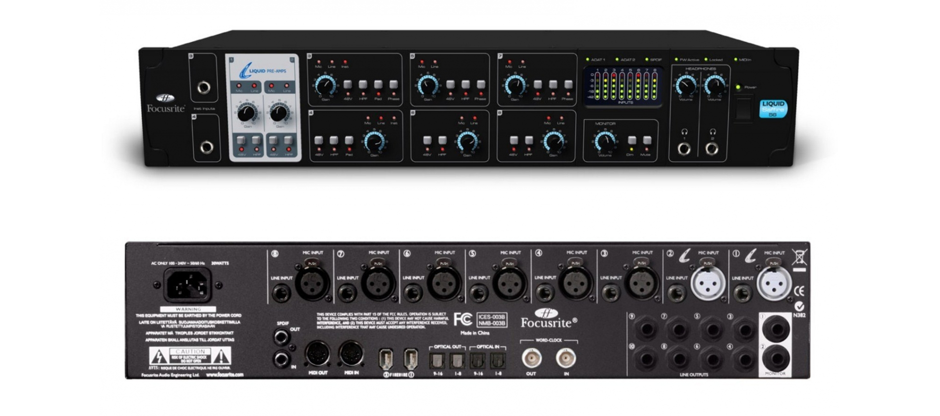 focusrite liquid saffire 56 schede audio. Black Bedroom Furniture Sets. Home Design Ideas