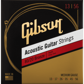 GIBSON SAG-BRW13 80/20 BRONZE ACOUSTIC GUITAR STRINGS
