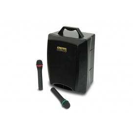 DJ TECH VISA 80 CD/USB/WIRELESS MIC BATTERY POWERED SPEAKER