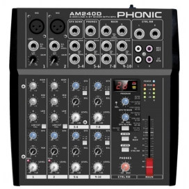 PHONIC AM240D MIXER CON EFFETTI 2 MIC / 4 STEREO